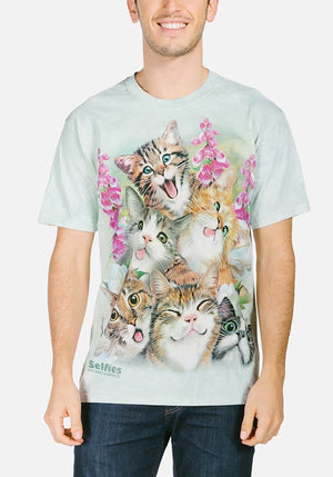 Kittens Selfie T-Shirt - Only Cat Shirts
