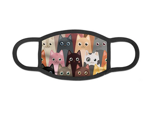 Reusable Face Mask - Cartoon Cat Print (Set of 2)