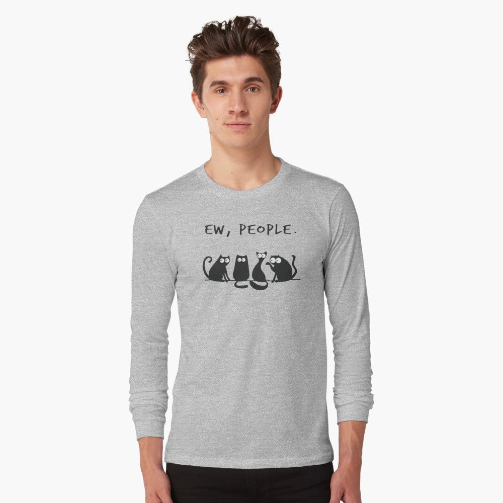 Ew-People Long Sleeve T-Shirt - Only Cat Shirts