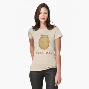 Purrtato Cat Potato Womens T-Shirt - Only Cat Shirts