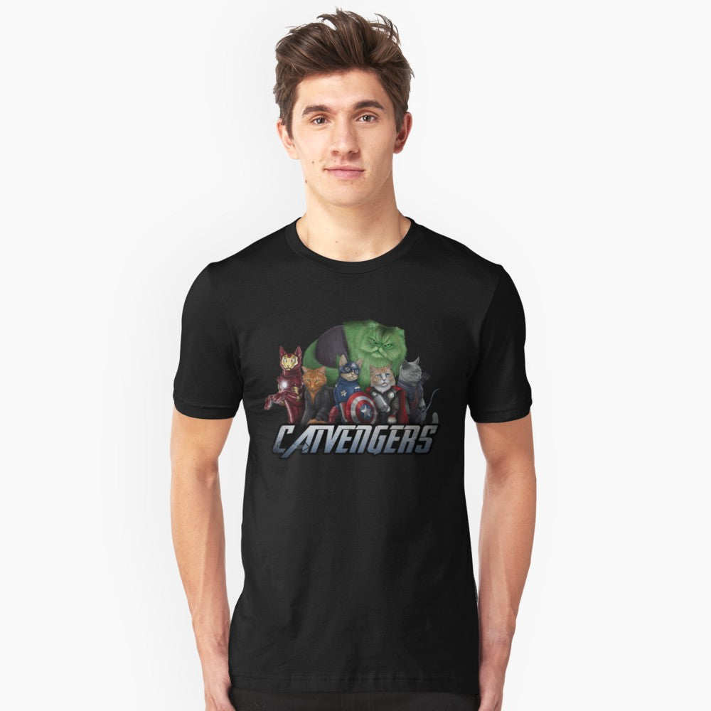 The Catvengers Mens / Womans T-shirt - Only Cat Shirts