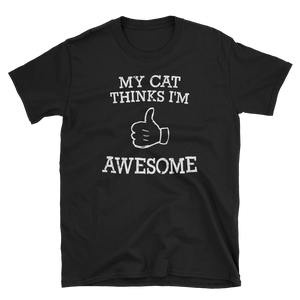 my cat thinks im awesome funny cute cat shirt onlycatshirts