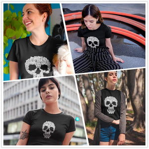 Kittens Skull Halloween T Shirt
