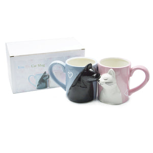 Kiss Me Cat Coffee Mug Set