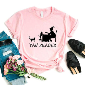 Paw Reader Cat Lady T-shirt