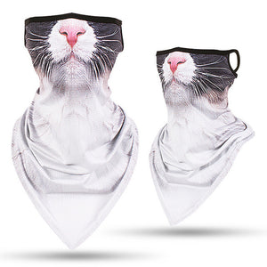 Unisex Cat Face Bandana