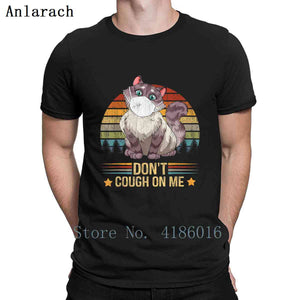 Don't Cough On Me Masked Cat T-shirt