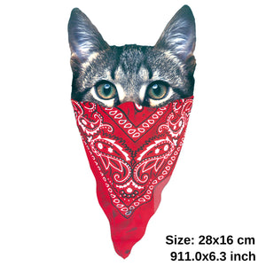 Masked Cat Iron On Patch