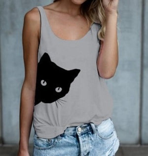 Cat Looking Outside Summer Tank Top