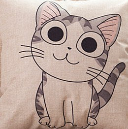 Cute Cat Cartoon Throw Pillow