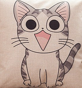 Cute Cat Cartoon Throw Pillow - Only Cat Shirts