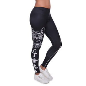 High Elasticity Egyptian cat symbols Leggings for Women - Only Cat Shirts