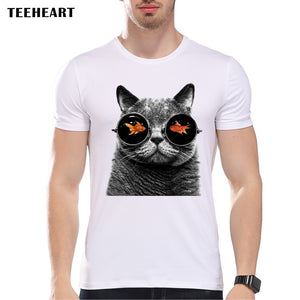 Men's Cool Cat Glasses T-Shirt