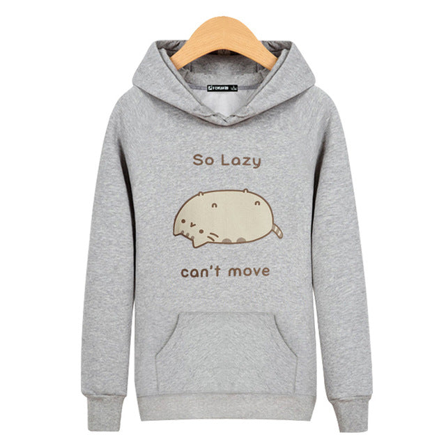 So Lazy... Cant Move.... Hooded Sweatshirt - Only Cat Shirts 6a5cc8454