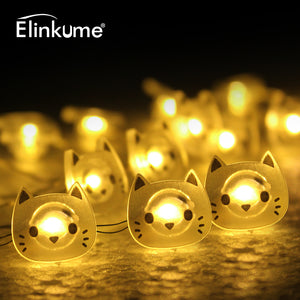 cat string light