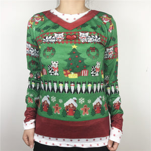 Christmas Cats and Presents Sweater - Only Cat Shirts