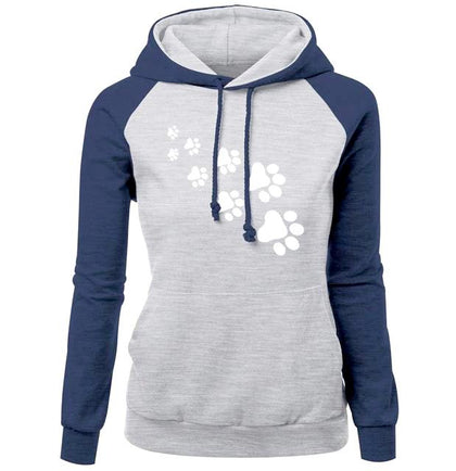 CAT PAWS  Paw Print Cute Colors Hoodie Sweatshirt