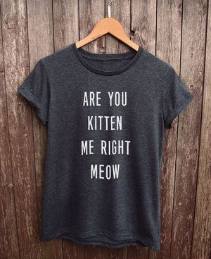 are you kitten me right now shirt gray - onlycatshirts