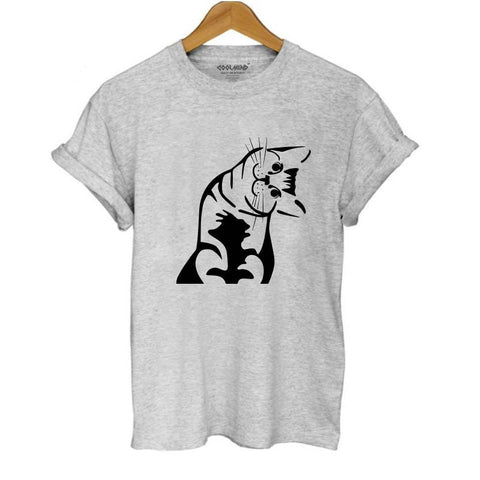 Curious Kitten T-shirt Mens / Womans