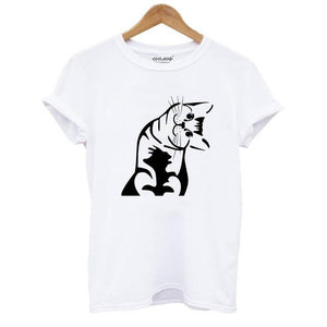 Curious Kitten T-shirt Mens / Womans - Only Cat Shirts