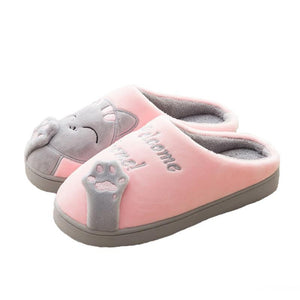 pink welcome home paw slippers