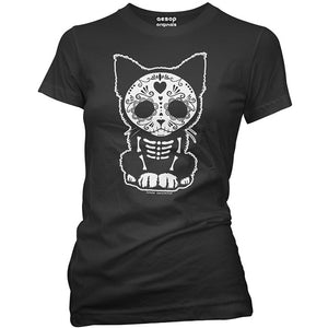 Day of The Dead Sugar Skull Kitten T-Shirt
