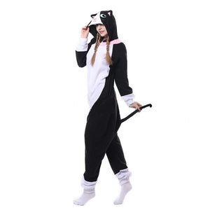 Black/White Cat Onesie | Adult Size