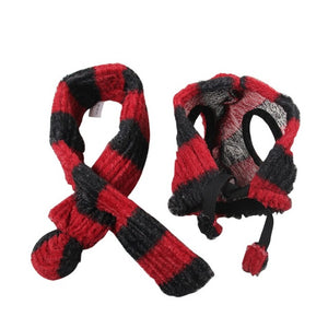 Pet Knitted Hat & Scarf 2-Piece Set