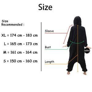 Cat Onesie With Slippers | Adult Size