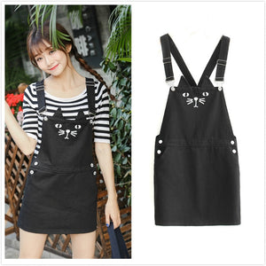 Cat Overalls Short Dress (S-4XL)