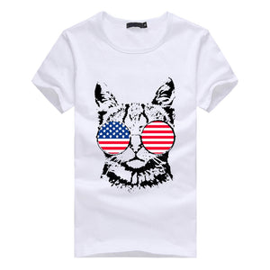 """Meowica"" Patriotic Cat Women's T-shirt"