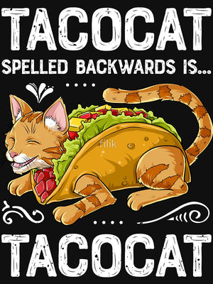 TACOCAT Spelled Backwards is TACOCAT T Shirt - Only Cat Shirts