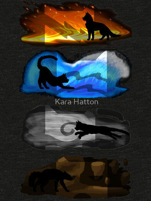 Warrior Cats: Four Elements, Four Clans - Only Cat Shirts