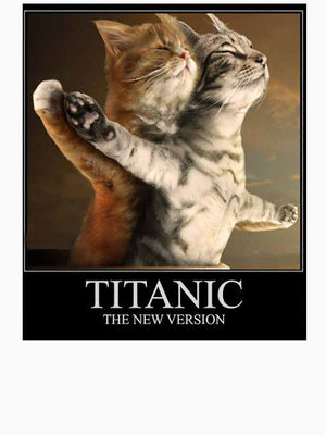 Titanic Cats Mens / Womans T-Shirt - Only Cat Shirts