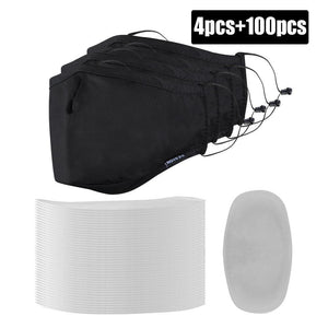 2PCS PM2.5 Dust Masks with 50 Replaceable Filters
