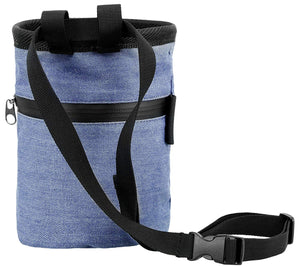 Denim Chalk Bag with Zippered Pocket