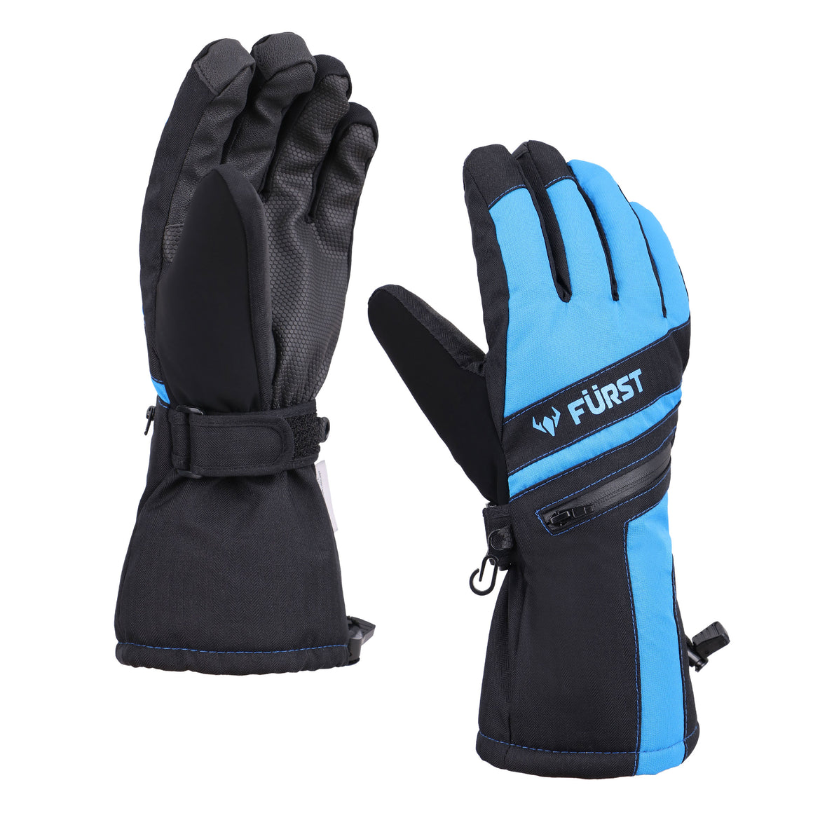 Men's Storm Touchscreen Winter Gloves and Scarf Set (Blue)