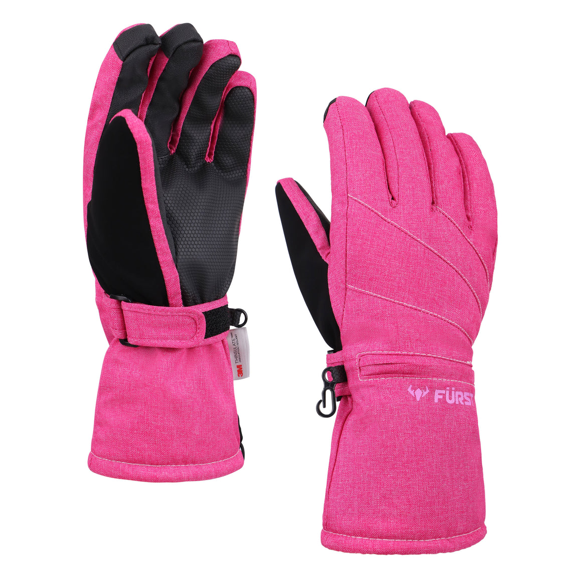 Women's Storm Touchscreen Winter Gloves and Scarf Set (Pink)