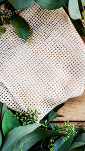 cotton mesh produce bags, zero waste stocking stuffers, eco friendly christmas gifts