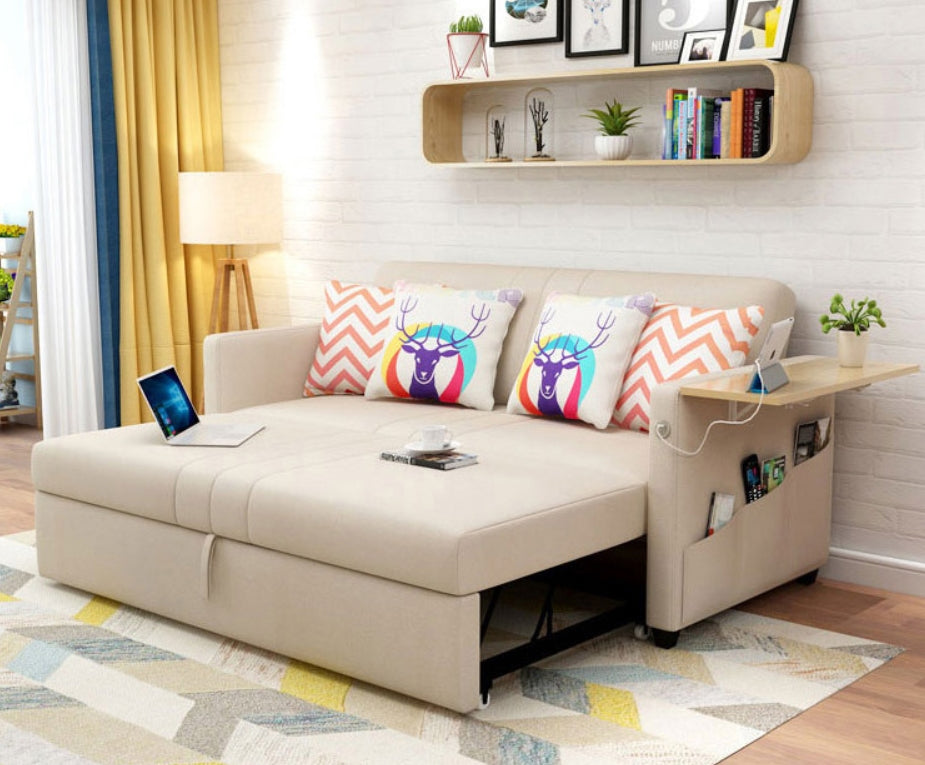 Elma scandinavian convertible sofa bed megliosg for Couch converts to bunk bed price