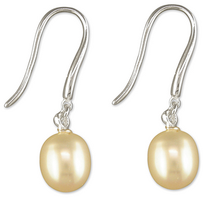 Large teardrop white freshwater pearl hook-in drop