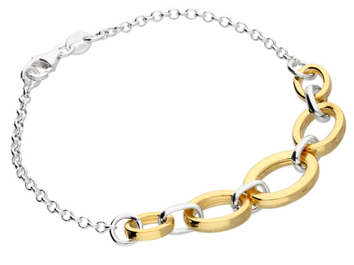 Sterling silver and gold-plated bracelet