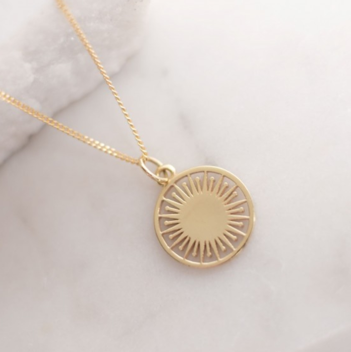 Token Charm Necklace Atomic: Gold