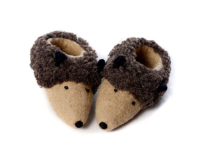 Felt Booties - Little Hedgehog