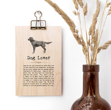 Plywood Plaque - Dog Lover Quote