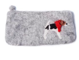 Felt Pencil Case - Fox Terrier