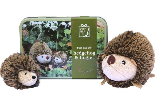 Gift in a tin - Hedgehog & Hoglet