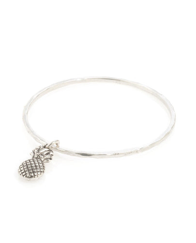 Danon silver plated pineapple bangle