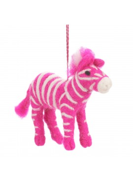 Felt Hanging Decoration - Pink Zebra