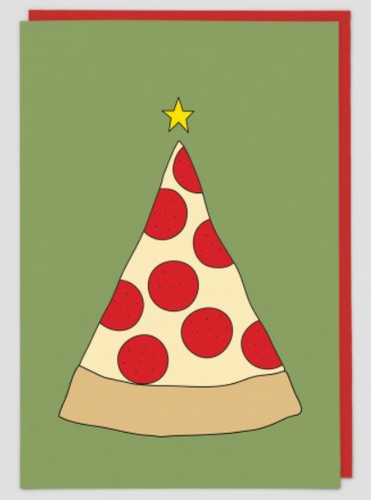 Card - Pizza Christmas Tree